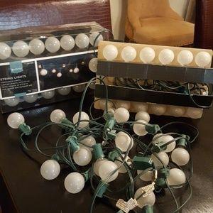 3 sets of string lights